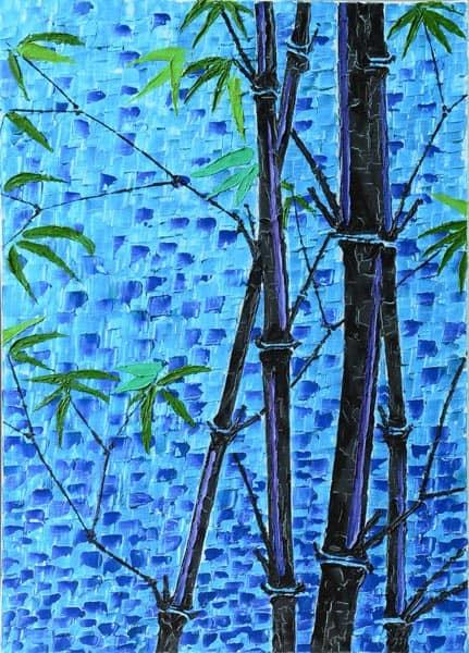 Bamboo nero viola